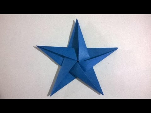 C mo hacer una estrella de papel de 5 puntas origami - Origami de una estrella ...