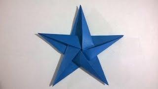 ORIGAMI: ESTRELLA 5 PUNTAS DE PAPEL - origami paper star