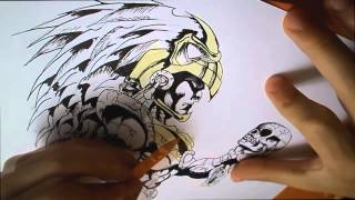 dibujando un azteca