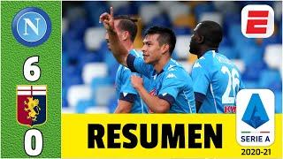 Napoli 6-0 Genoa DOBLETE DEL CHUCKY Hirving Lozano en la goleada de los de Gennaro Gatusso | Serie A