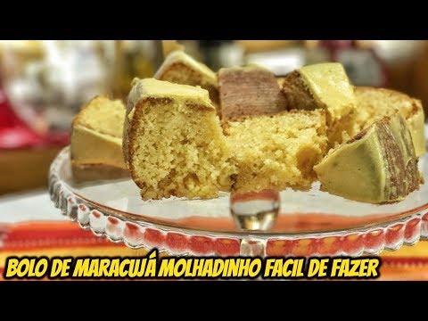 BOLO DE MARACUJÁ SIMPLES E MOLHADINHO FÁCIL DE FAZER