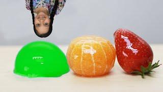 Mukbang Shfa Tanghulu Strawberry tangerine Kyoho jelly