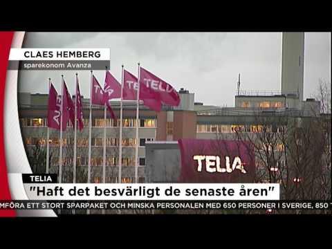 Hundratals får lämna Telia i Sverige efter vinstras.  - Nyheterna (TV4)