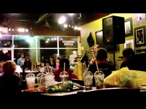 Hilliard Coffee Shop Camryn singing Blackbird