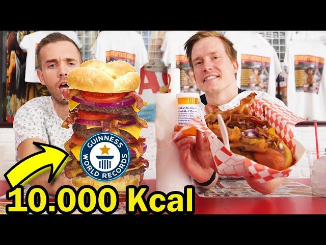 Vi äter världens kalori-tätaste burgare!