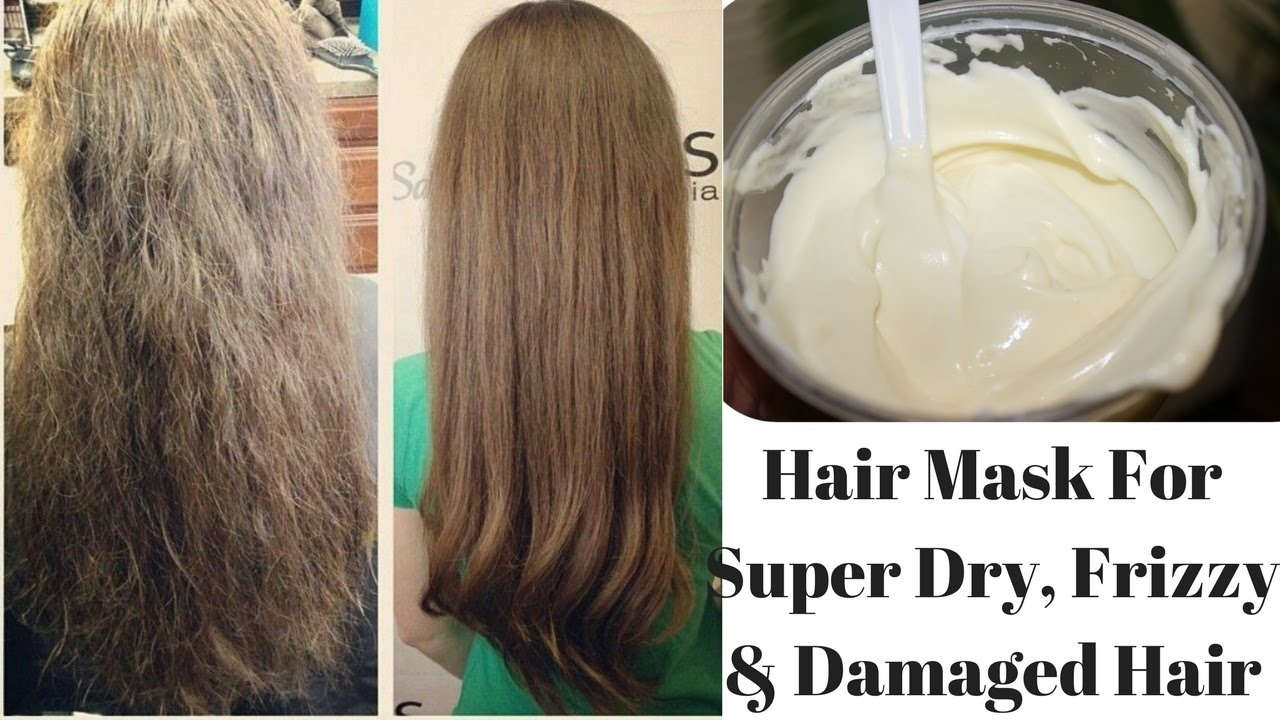 Diy Hair Mask For Super Dry Frizzy Damaged Hair Cures Dandruff Promotes Hair Growth Youtube