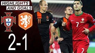 Portugal vs Netherlands 2 1 Highlights Goals Cristiano Ronaldo Comeback 2012