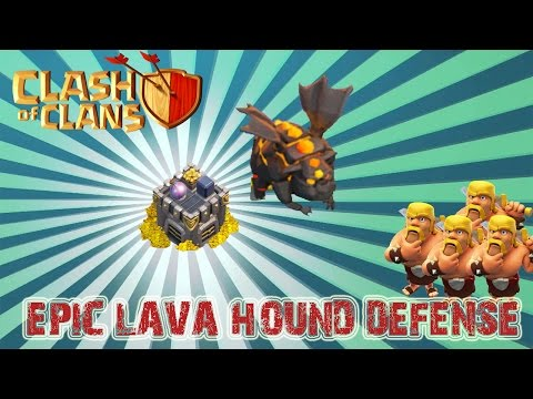 Clash Of Clans: Epic Lava Hound Clan Castle Defense Strategy!
