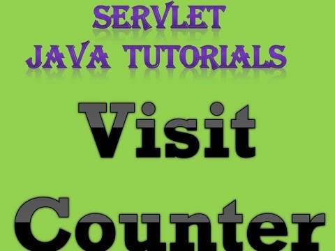 Servlet Java Tutorial Part 4 Visit Counter