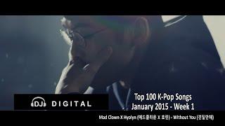 Video Top 100 K-Pop Songs for January 2015 Week 1 download MP3, 3GP, MP4, WEBM, AVI, FLV November 2017