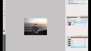 Photoshop CS4 Наложение фото на другое урок 5