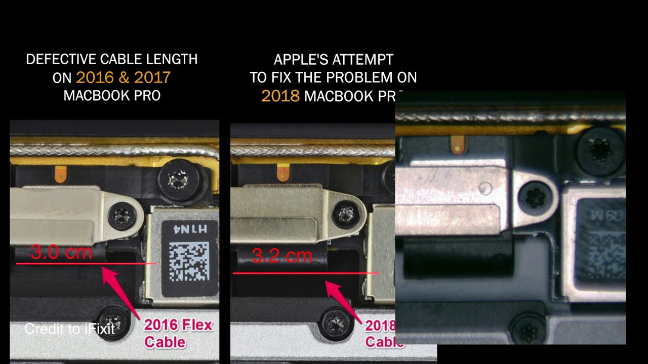 MacBook FlexGate Fix / Repair: What if the cable is +3mm longer?