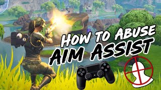 How to Improve AIM on Controller / ABUSE AIM ASSIST on Fortnite! PS4 + Xbox Aiming Tips/Guide!