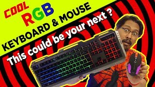 Cool RGB Gaming Keyboard and Mouse Combo - Zebronics Transformer