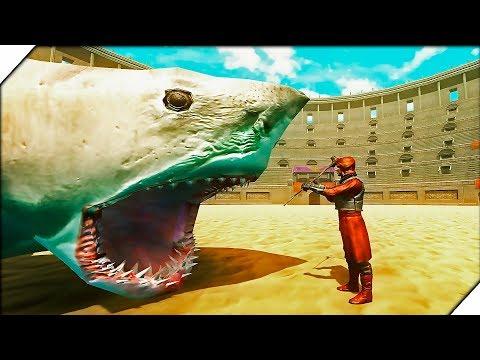 ОГРОМНАЯ АКУЛА МЕГАЛОДОН против МАГОВ - Игра Beast Battle Simulator Обзор  Боевой симулятор зверя