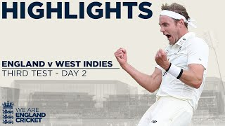 Day 2 Highlights | Broad Stars to Put England on Top | England v West Indies 3rd Test 2020
