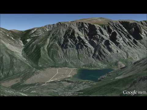 Beartooth Mountains, Montana. Fly Through Tour - Google Earth