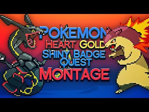 Pokemon Heart Gold Shiny Badge Quest - 1/8192 Shiny Pokemon Reaction Montage - JCBLPs