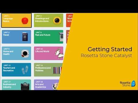 Getting Started - Rosetta Stone Catalyst