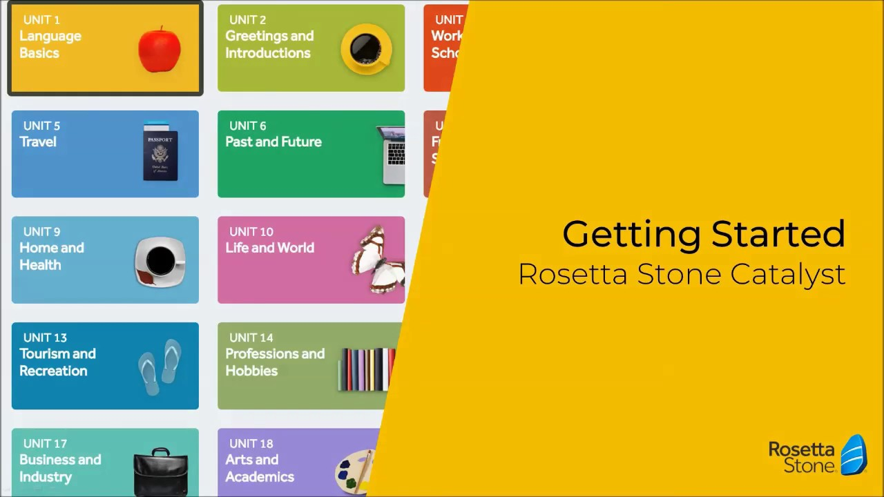 Getting started - Rosetta Stone Catalyst
