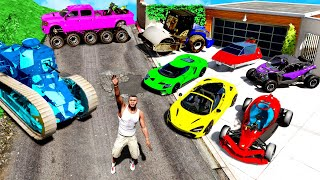 Collecting RARE & SECRET CARS in GTA 5!
