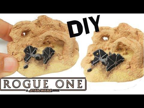 DIY MINIATURE ROGUE ONE STAR WARS Tie Fighter - Miniature polymer clay tutorial craft