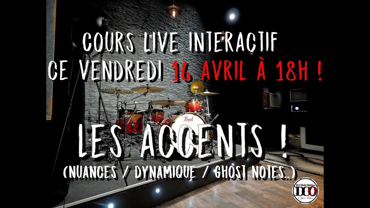 Cours live interactif ce vendredi 16 avril à 18h : les accents !