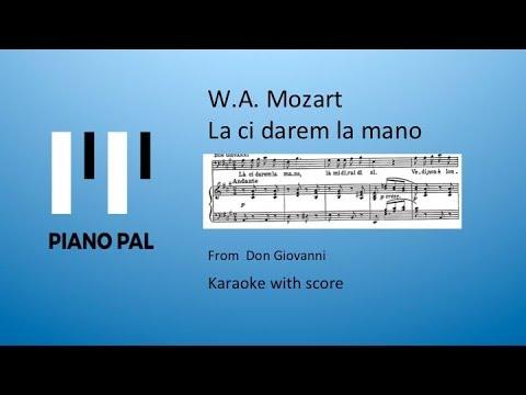 La ci darem la mano KARAOKE with Score Mozart