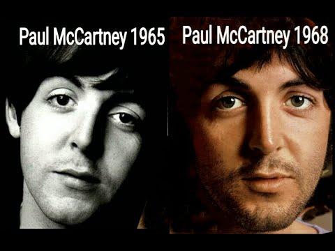 Paul McCartney Photo Comparison 1965 1968