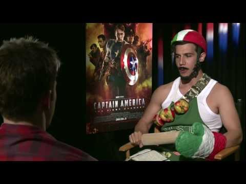 CAPTAIN AMERICA - Winter Soldier  vs CAPTAIN ITALY (funny Chris Evans, Sebastian Stan)