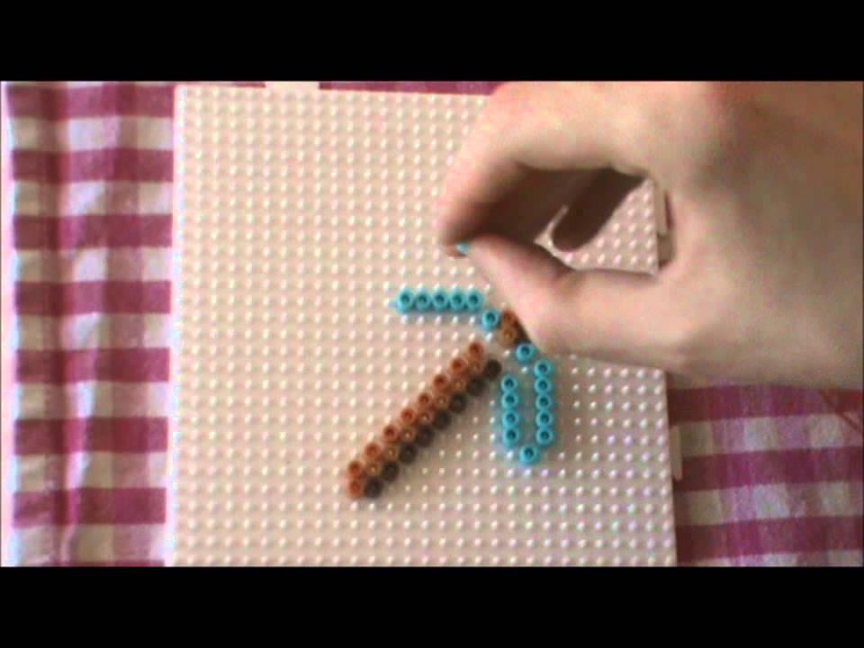 b gelperlen vorlage minecraft 3 hacke perler beads youtube