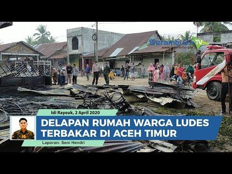 Delapan Rumah Warga Ludes Terbakar Di Aceh Timur