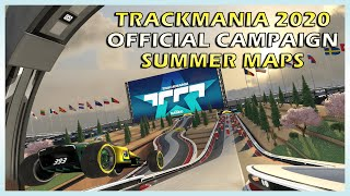 NEW Trackmania 2020 Official SUMMER Maps Campaign - All gold medals Speedrun