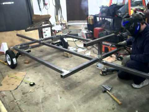 Building A Towable Picnic Table Quick Version YouTube - Picnic table trailer
