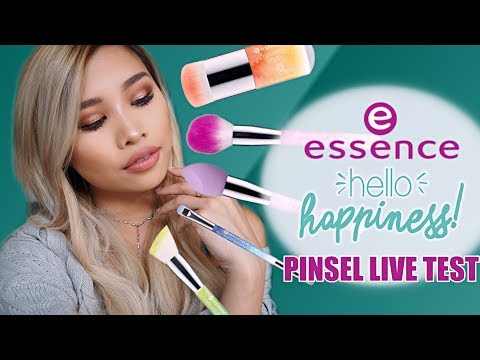 Neue ESSENCE PINSEL LE LIVE TEST l hello happiness trend edition! l #KisusBeautyNews