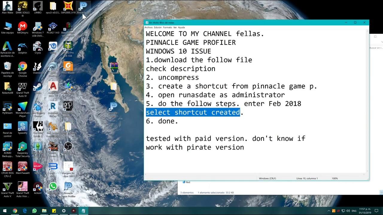 pinnacle game controller full version