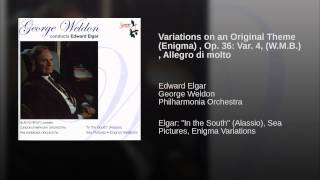 Variations on an Original Theme (Enigma) , Op. 36: Var. 4, (W.M.B.) , Allegro di molto
