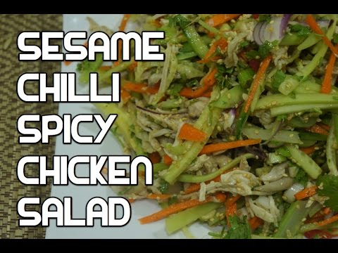 Chilli Chicken Salad Recipe - Asian Bang Bang