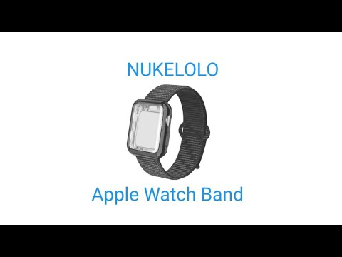 """NUKENONO"" Apple Watch Band With Case, Sport Nylon Loop For Apple Watch"