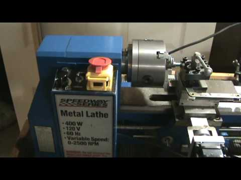 """7x12 CNC mini lathe cutting 3/8"""" 24 tpi threads in Stainless Steel Groen Kettle Handle repair"""