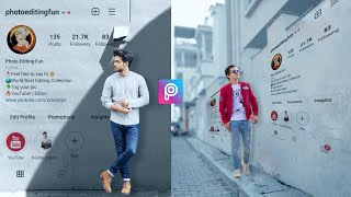 Instagram Profile Wall Photo Editing in PicsArt | PicsArt Editing Tutorial | PicsArt Photo Editing