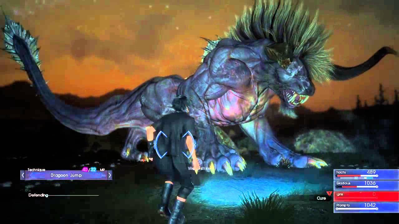 FINAL FANTASY XV EPISODE DUSCAE Behemoth with better ... Behemoth Final Fantasy 15