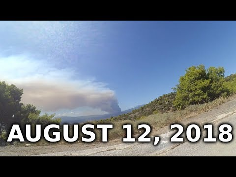 Evia Wildfire - RAW FOOTAGE - Aug 12, 2018