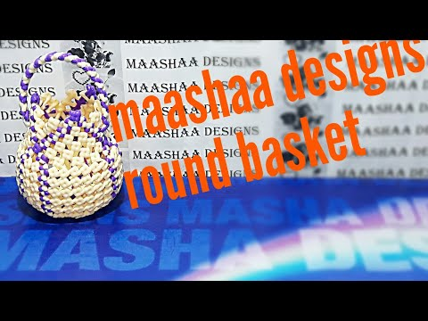 How to make small round basket(handle making model11)