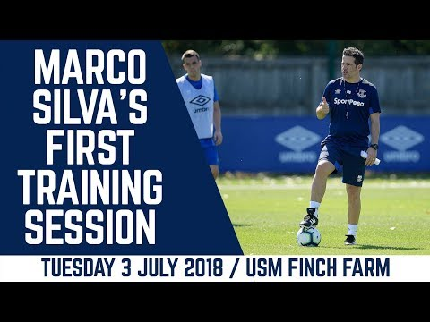 MARCO SILVA'S FIRST TRAINING SESSION AS EVERTON BOSS