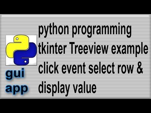 Python tkinter Treeview widget click event select row