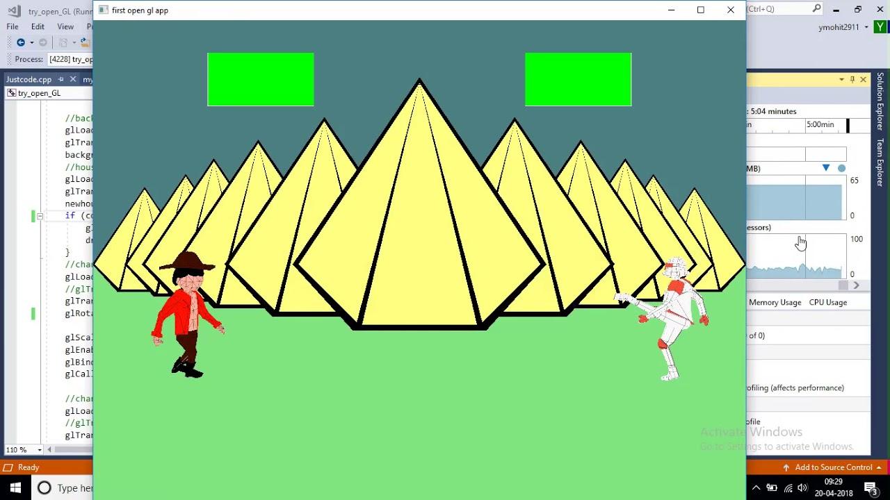 OpenGL 3D game in C++