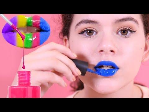 DIY Nail Polish Lip Gloss! Inspired by Karina Garcia's DIY NAIL POLISH LIPSTICK! Lipstick Bottles!