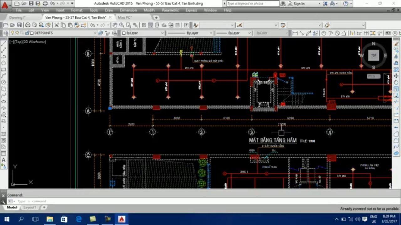 Dạy vẽ AutoCAD PCCC – Buổi 1: Thiết lập giao diện AutoCAD, bắt điểm OSNAP -scale bản vẽ về tỷ lệ1:1