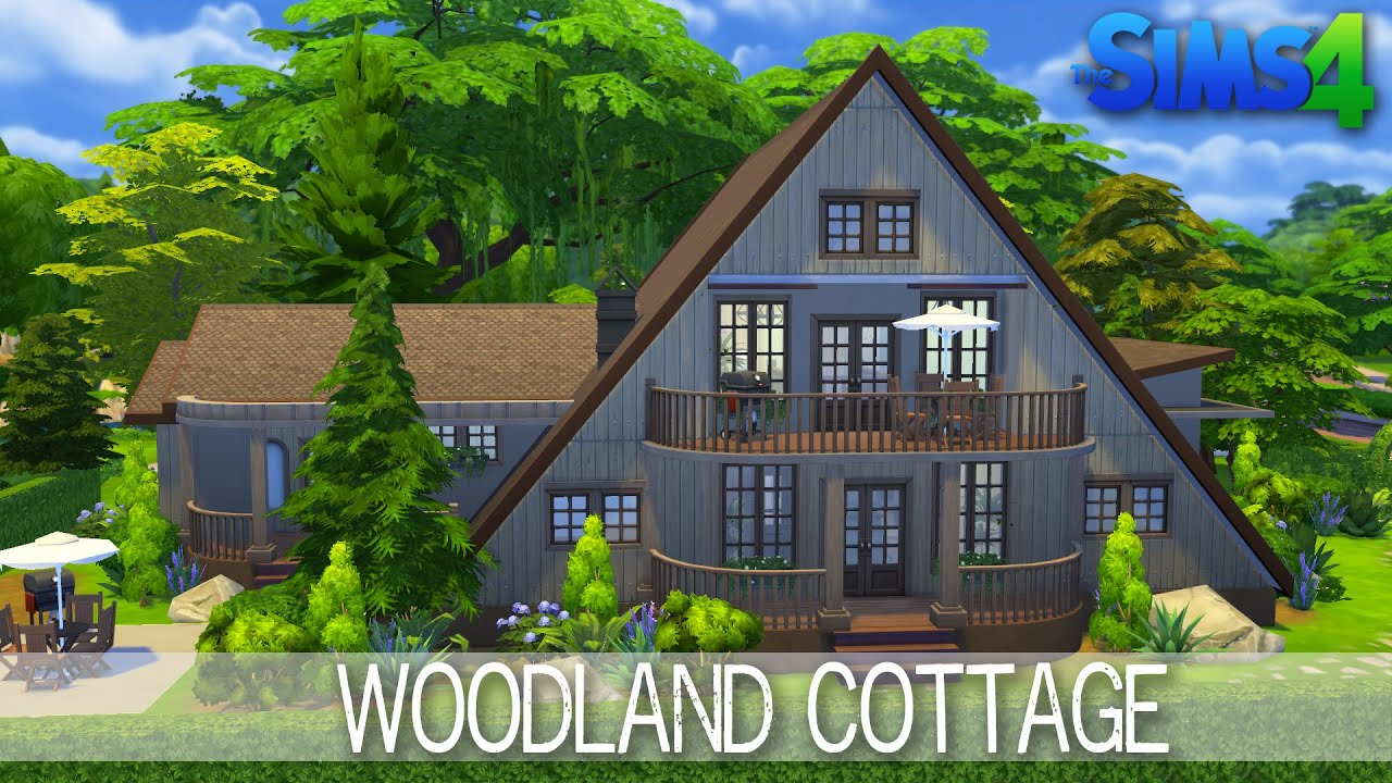 The sims 4 house building woodland cottage speed build for Cottage homes to build